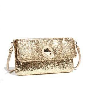 Kate Spade Small Sparkler Missy Gold Glitter Bag
